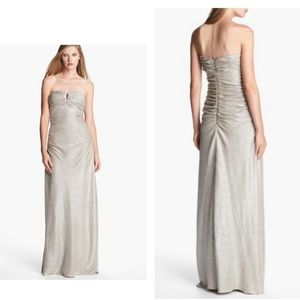 Adrianna Papell | Champange Shimmer Evening Gown 8